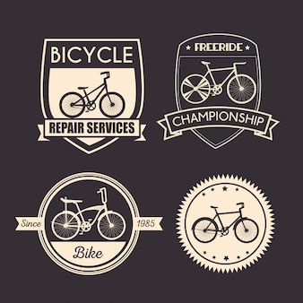 Set bicycle emblem for mechanical and shop service