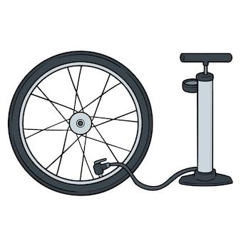 Set of bicycle pump