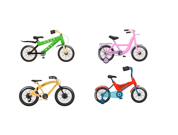 Set of bicycles for teenagers