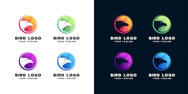 Set of bird logo design