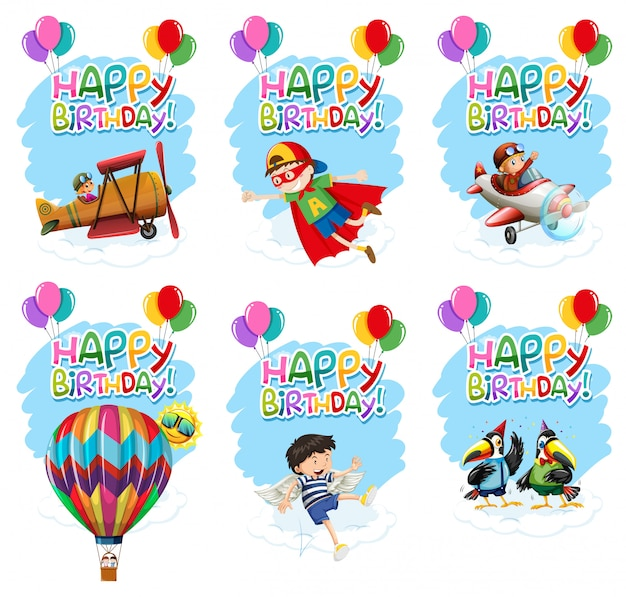 Set of birthday icon