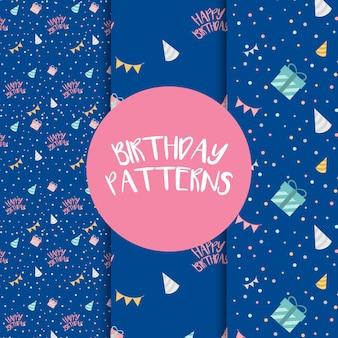 Set of birthday pattern vectors