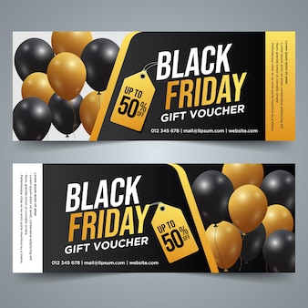 Set of black friday gift voucher