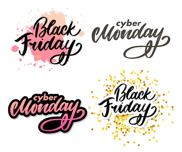 Set black friday letter. cyber monday sale banner vector. cyber monday banner design. technology background. concept event advertising. holiday shopping.