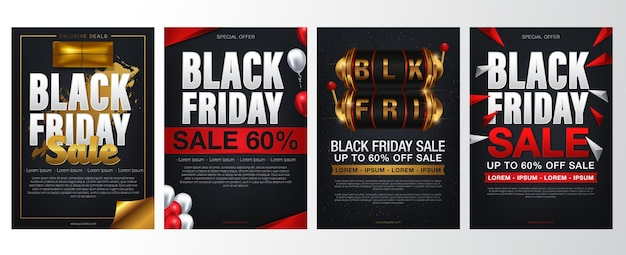 Set black friday sale banners.