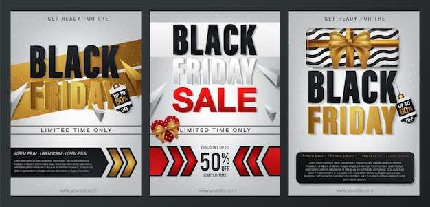 Set black friday sale banners