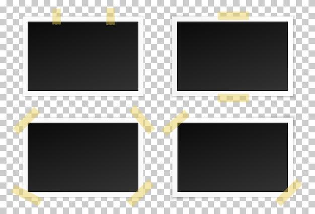 Set of black photo frames