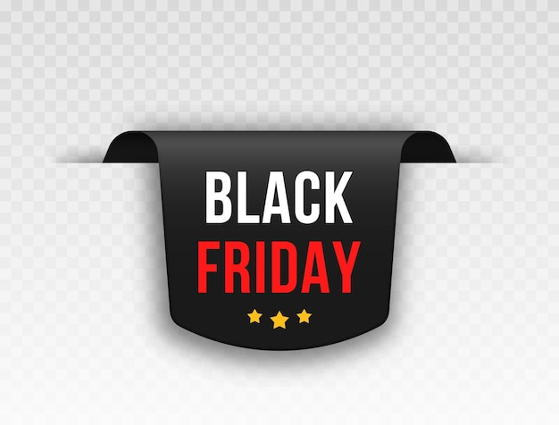 Set of black price tags tag design for black friday realistic sales label