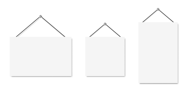 Set of blank banners. paper art vector background.