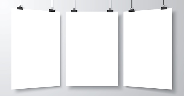 Set of blank empty poster