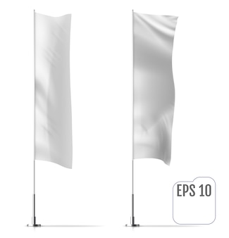 Set of blank flags
