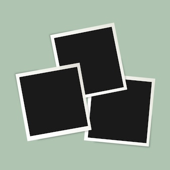 Set of blank photo frames