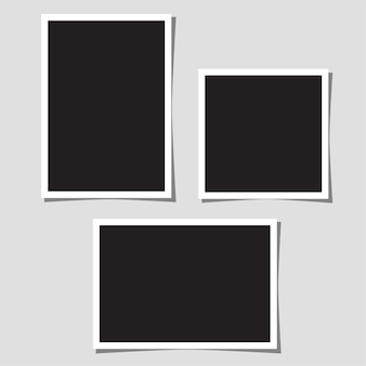 Set of blank photos for collage.