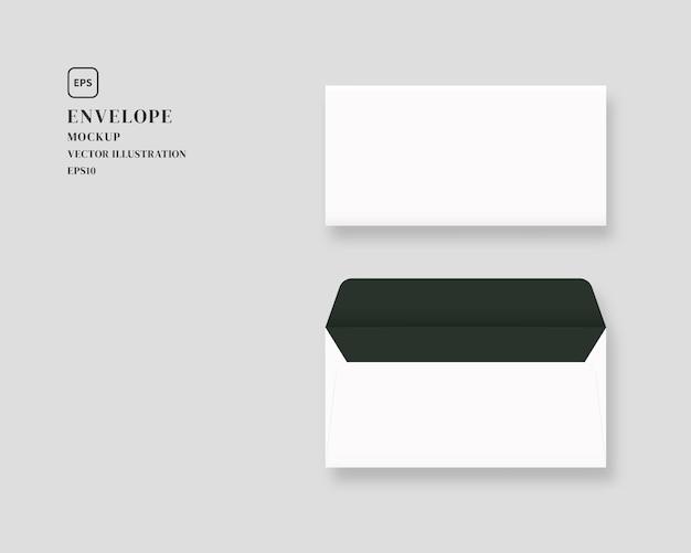 Set of blank realistic envelopes illustration