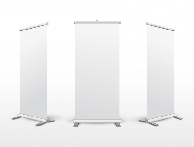 Set of blank roll-up stand