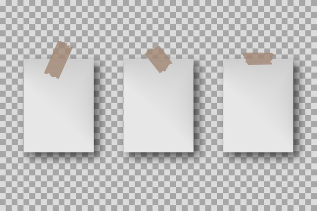 Set blank white poster template