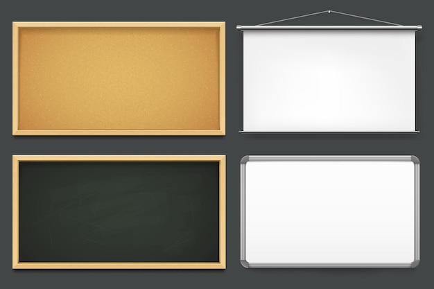 Set of boards templates or mockup vector set