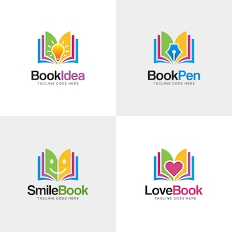 Digital Book Logo Vector Premium Download