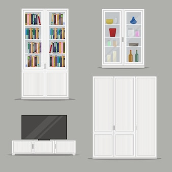 Set of bookcase