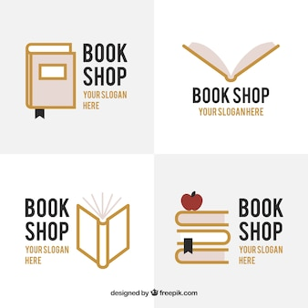 Set of bookstore logos