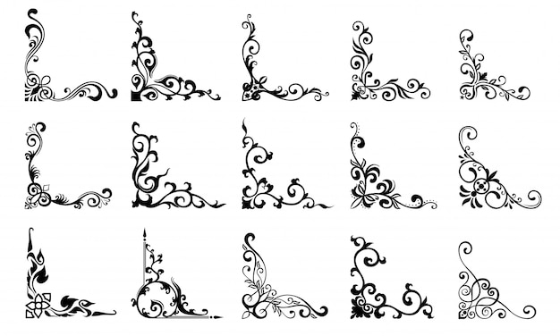 Set of border drawing template