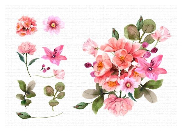 Set bouquet illustration