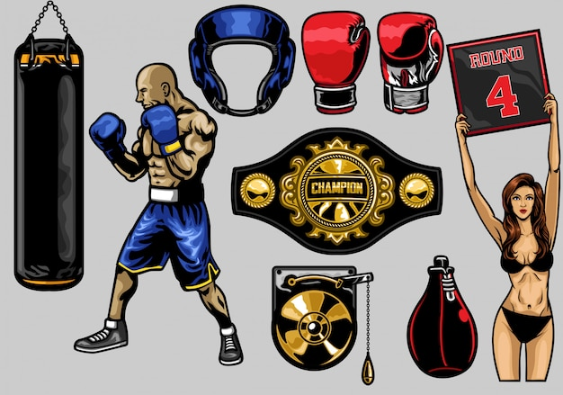 Set of boxing