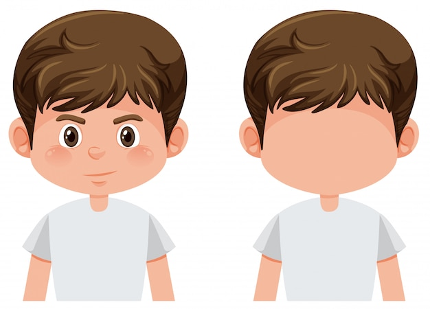 Set of boy character