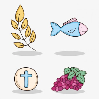 ホストと枝の葉と魚のブドウを設定します。