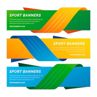 Set of brazil banners with ribbons