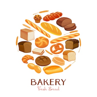 Set  bread icons.