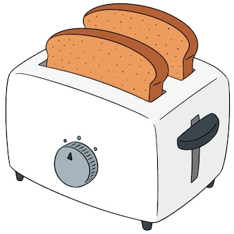 Set of bread and toaster