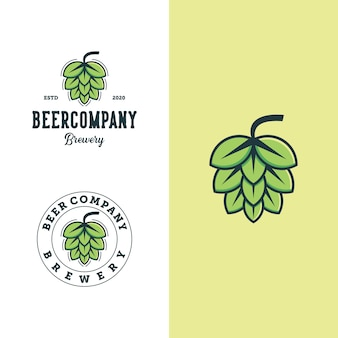 Set of brewery logo design  template. premium  for logos beer