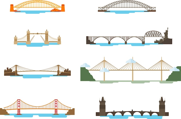 Set of bridge above the sea