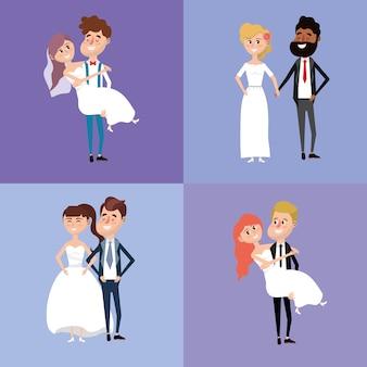 신부와 신랑 결혼 스타일을 설정