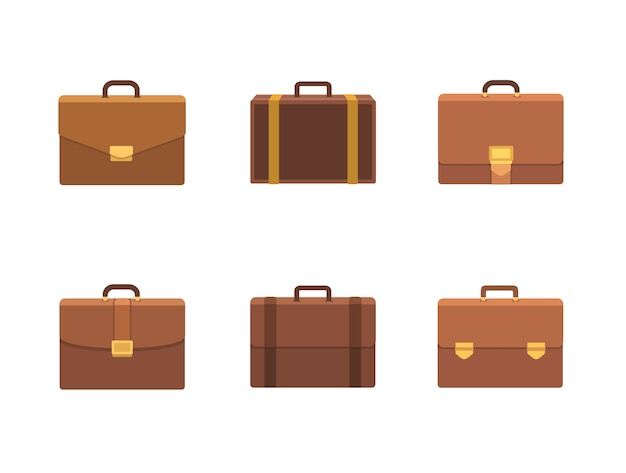 Set of briefcase  illustration