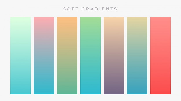 Set of bright colroful gradients set