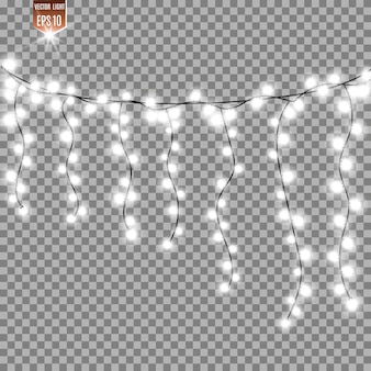 Set of bright garland. light effect.