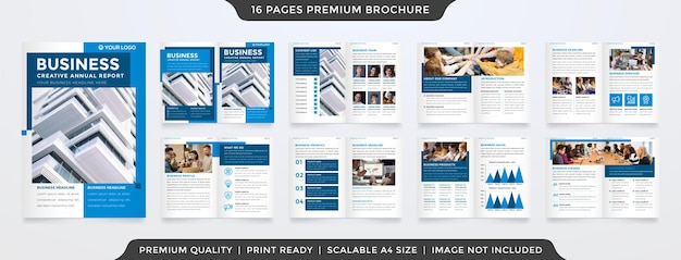 Set of brochure layout template with modern style use for company profile and annual report