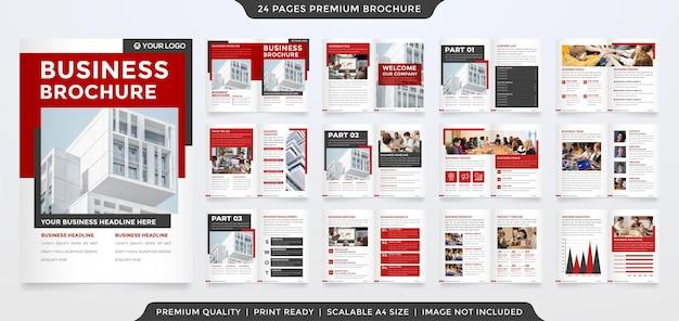 Set of brochure template