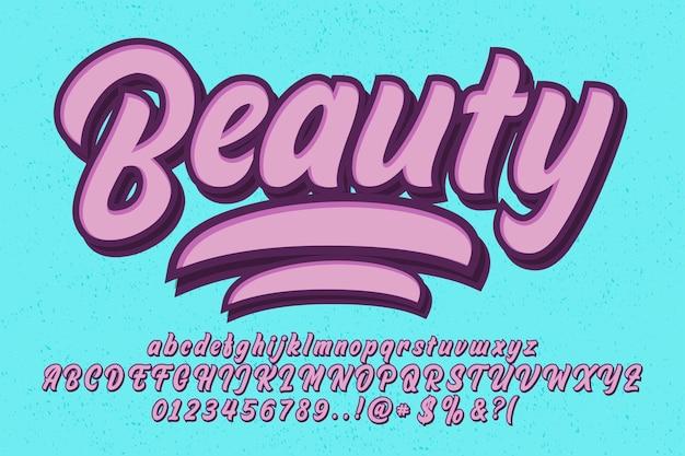 Set of brush script font