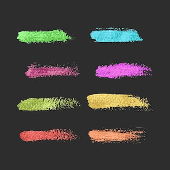 Set of brush strokes paint collection