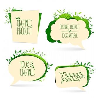 Set bubbles of organic product elements
