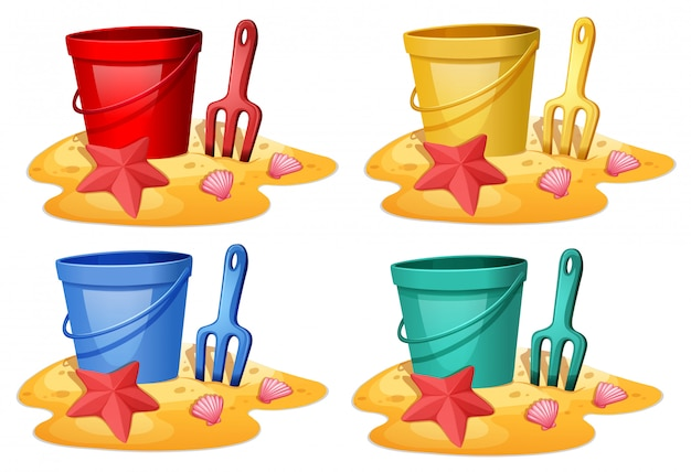 Set of bucket with spade