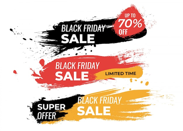 Set di bugdes per il black friday dipinto