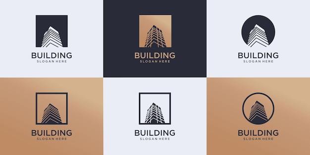 Set of building logo design architecture inspiration