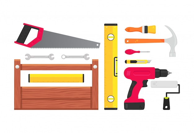 Set of building tools repair.