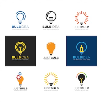 Set bulb logo vector illustration