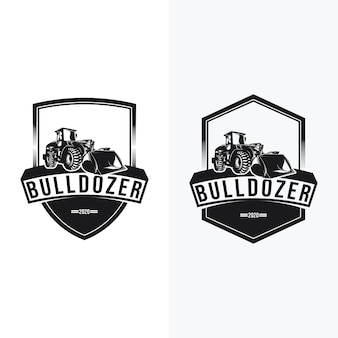 Set of bulldozer logo