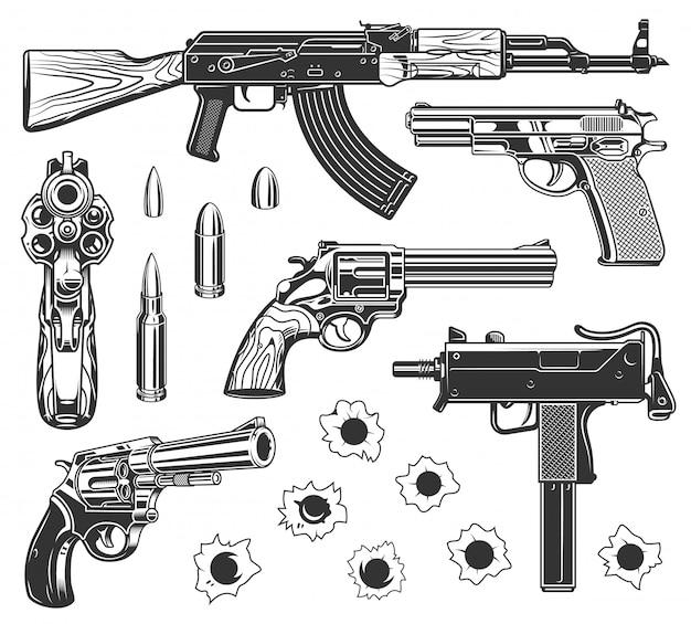 Set of bullet holes